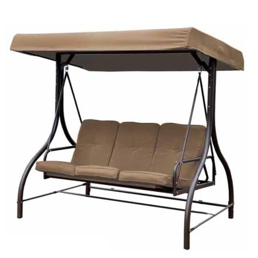 Dondolo 3 posti con schienale recrinabile modello