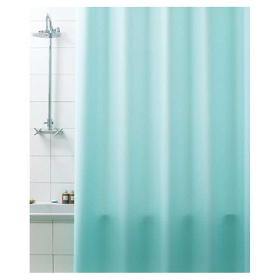 Tenda per doccia in vinile 100% Pvc riciclabile. Colore Verde Acqua Dimensioni cm 180x200h