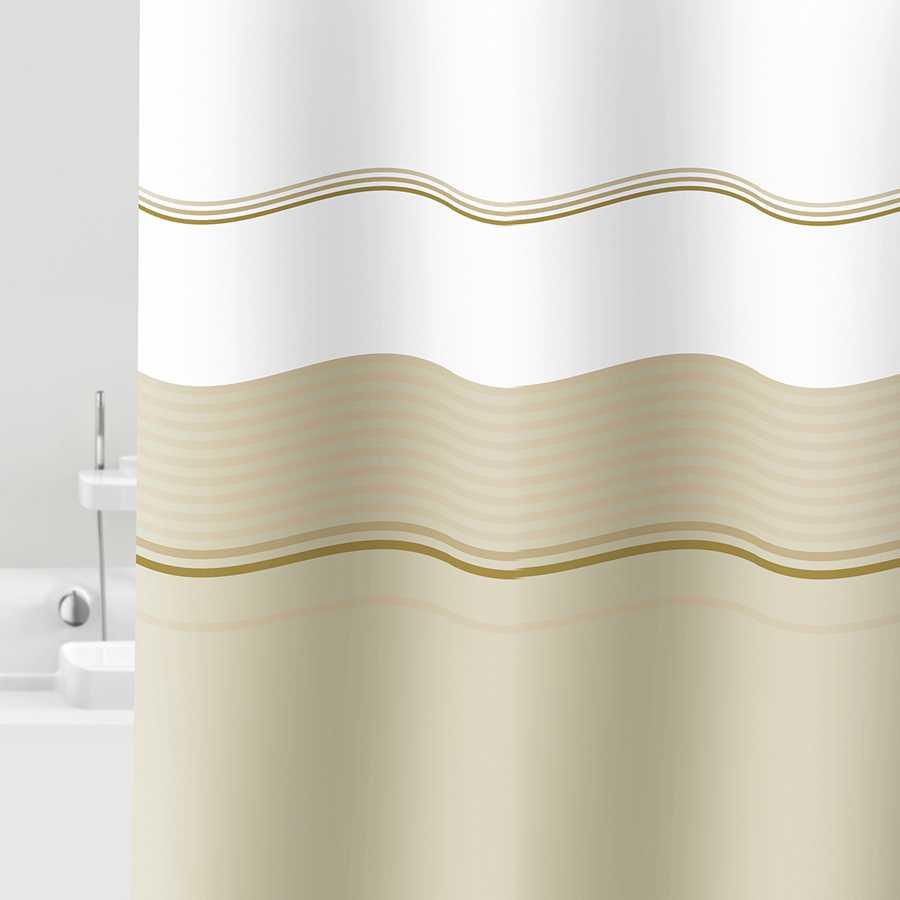 Tenda per doccia in vinile 100% Pvc riciclabile. Modello Vaniglia Dimensioni cm 120x200h
