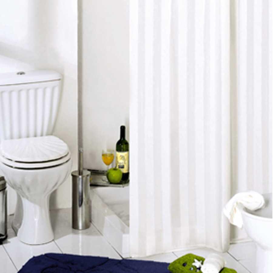 Tenda per doccia 2 lati in tessuto. Fantasia a righe Dimensioni cm 180x200h