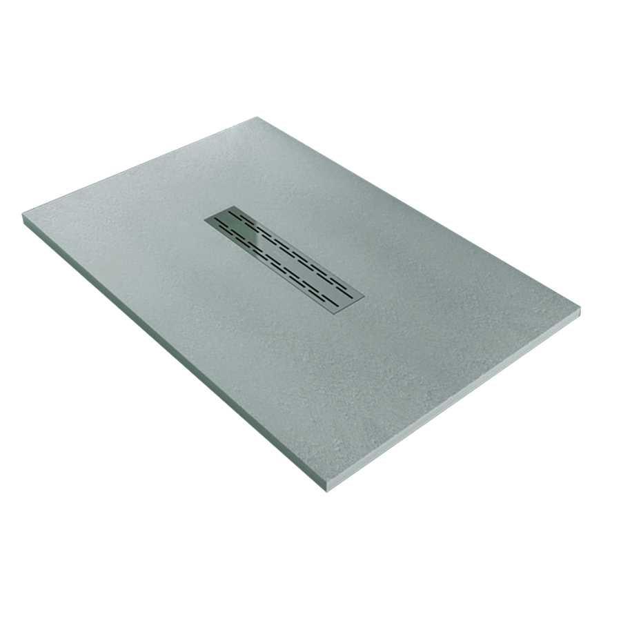 Piatto Doccia 70X160 effetto cemento realizzato in marmo resina Relax Design Rocky Lux | CeramicStore