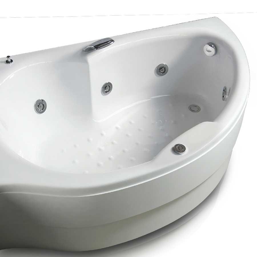 Vasca idromassaggio in acrilico con avviamento pneumatico Modello Simy