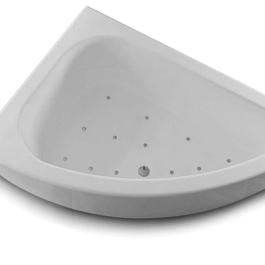 Vasca idromassaggio asimmetrica e angolare in acrilico con avviamento digitale Modello Sofia