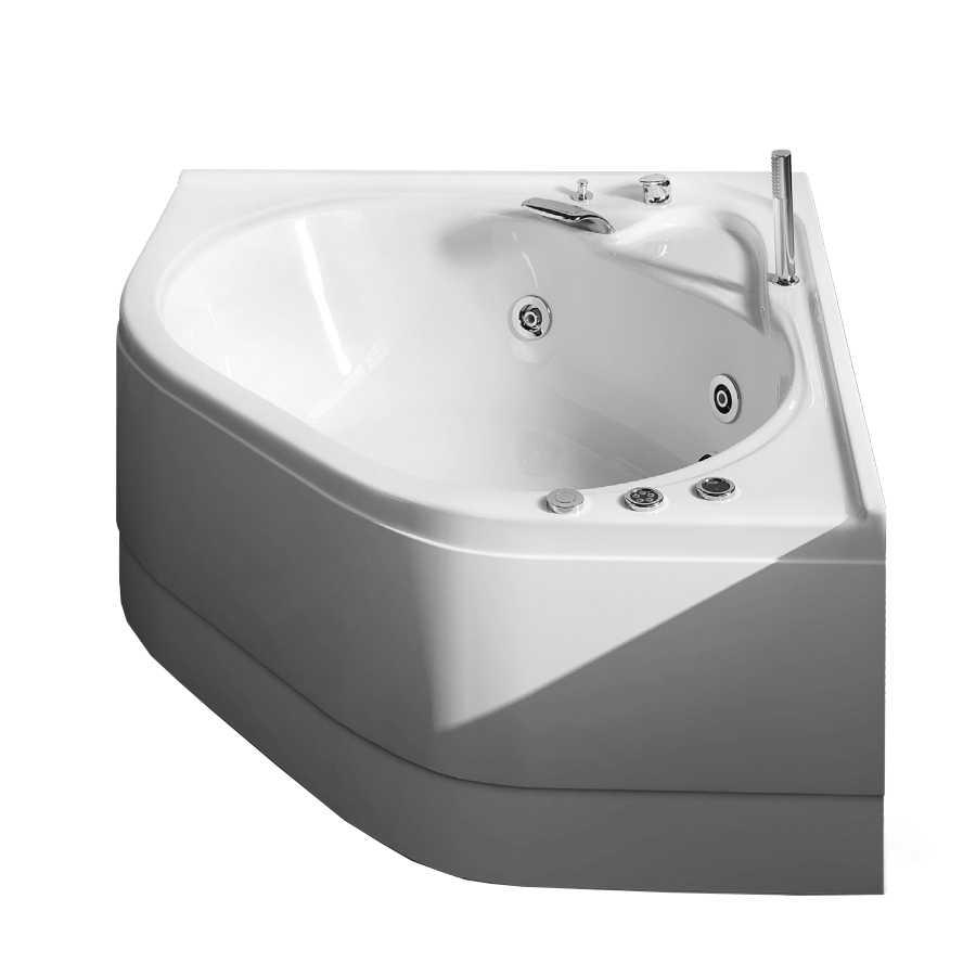 Vasca idromassaggio angolare in acrilico con avviamento digitale Modello Camelia