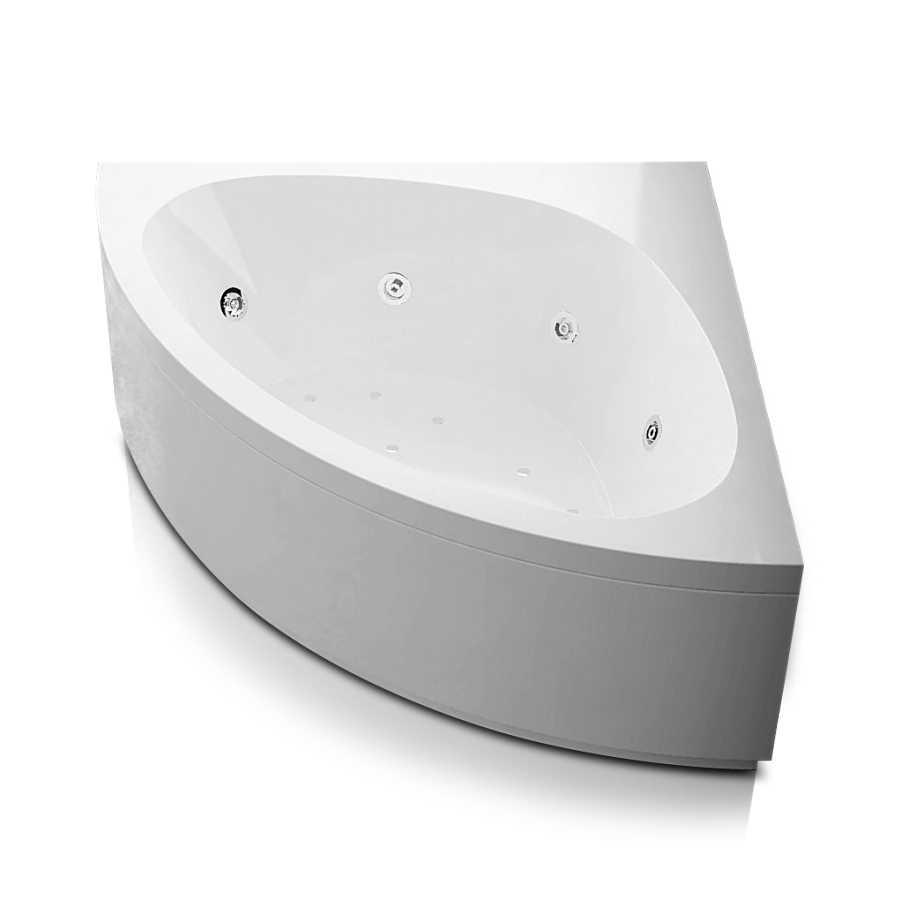 Vasca idromassaggio angolare in acrilico con avviamento pneumatico Modello Alessia