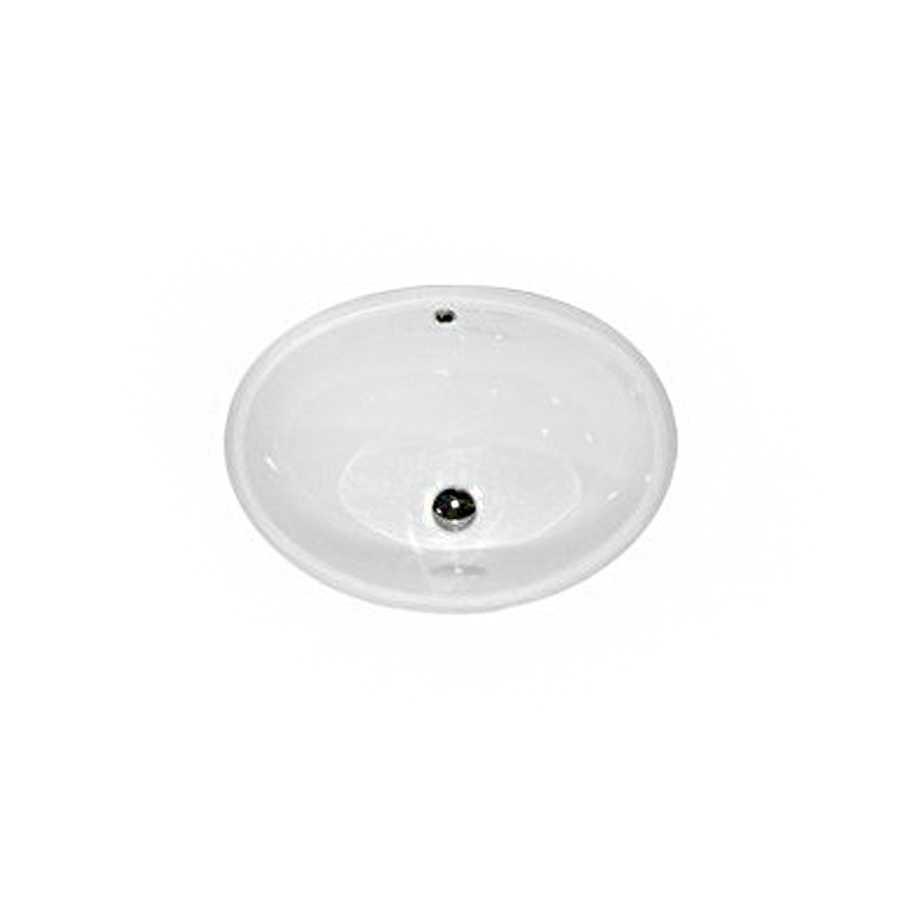 Lavabo in ceramica bianca per installazione sottopiano Althea modello Tibex