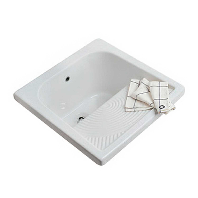 Lavatoio zona lavanderia con strizzatoio ceramica Globo cm 60x60
