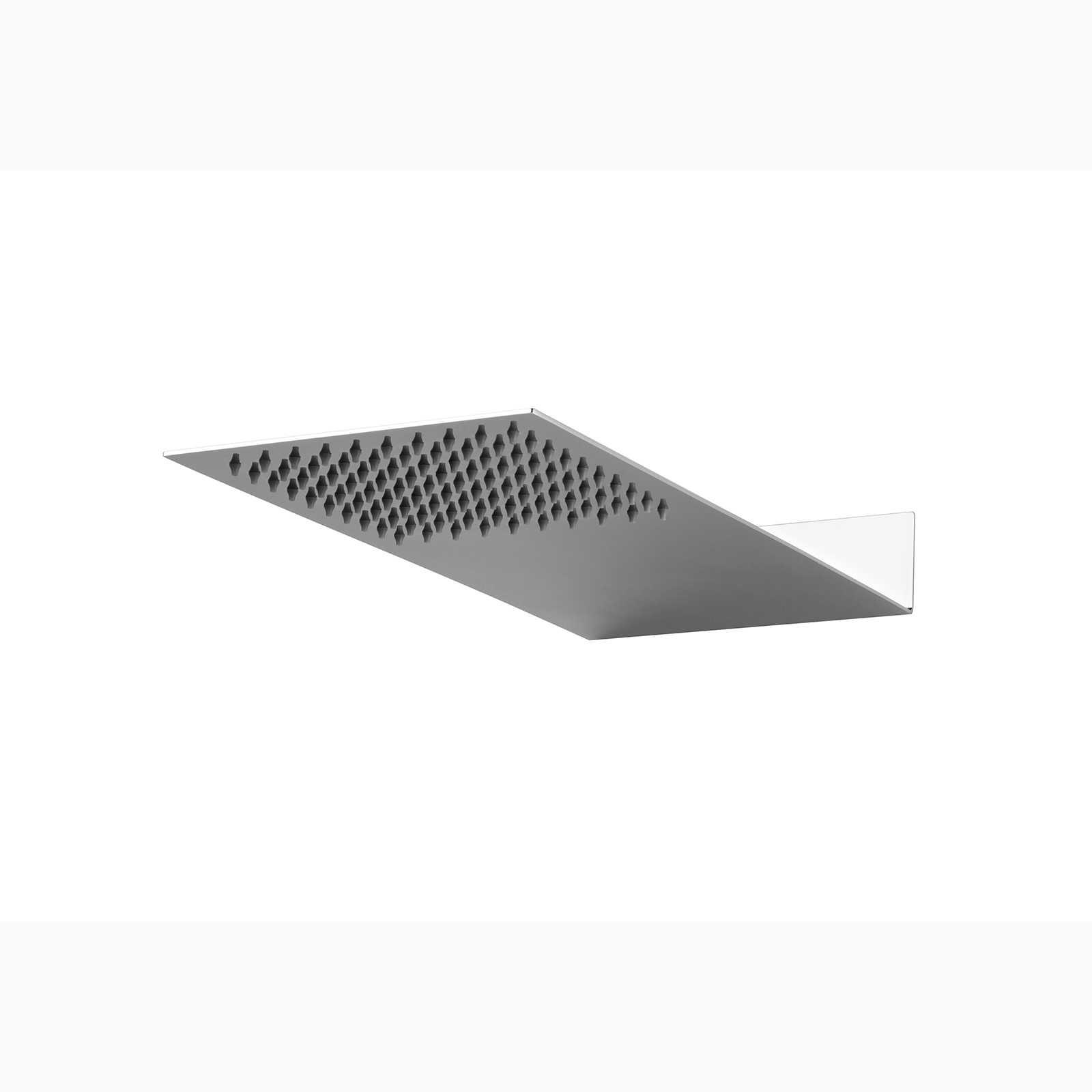 Soffione doccia a muro ultraslim Ares Blade 430x200 mm in acciaio inox