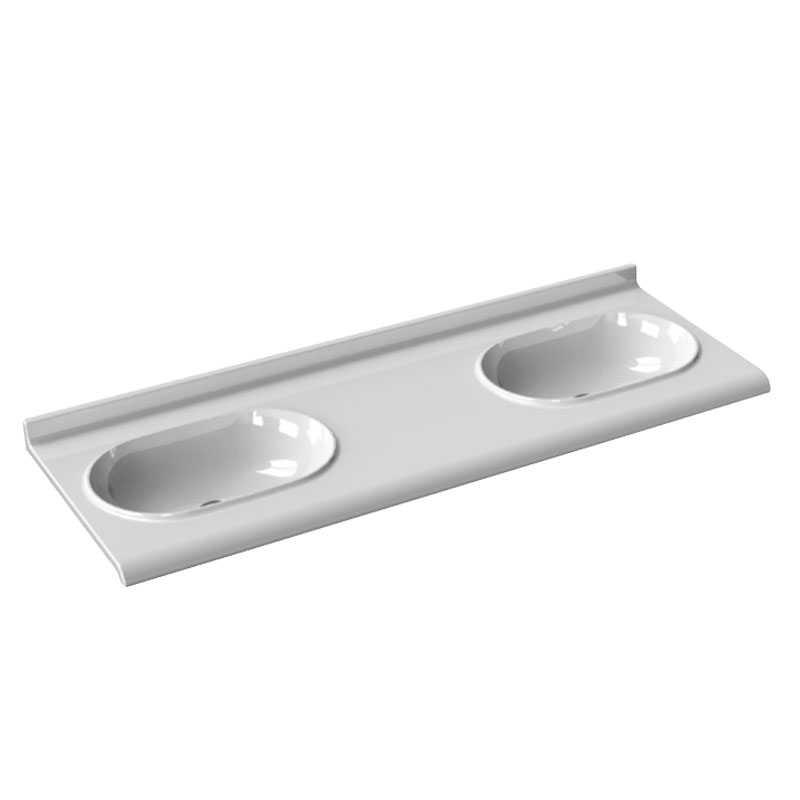 Consolle sospesa in ceramica cm 150x55 con doppio lavabo integrato Ceramica Azzurra Size