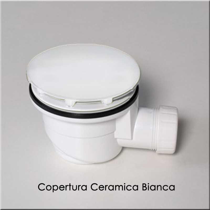 Piletta di scarico Sifonata con copertura in ceramica Ceramica Globo