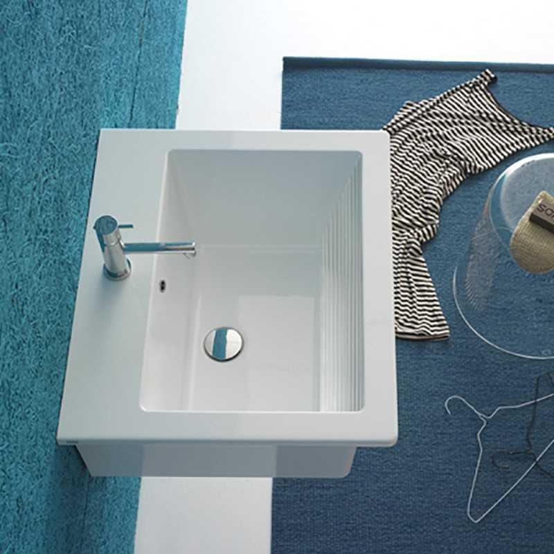 Lavabatoio Sospeso Ceramica Globo Forty3 60x50 FO063.BI