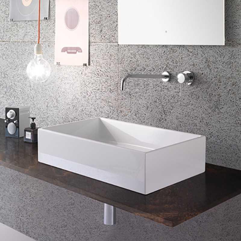 Lavabo da Appoggio Ceramica Globo Forty3 60X37 FO062.BI