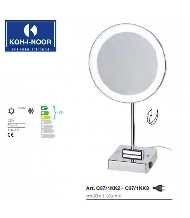 Specchio ingranditore da tavolo koh-i-noor modello Discolo Led
