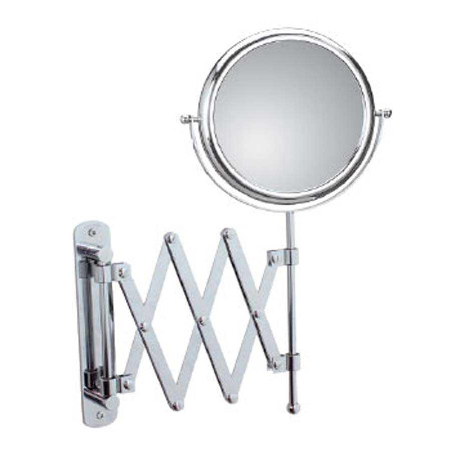 Specchio ingranditore bifacciale orientabile koh-i-noor modello Doppiolino con braccio estensibile