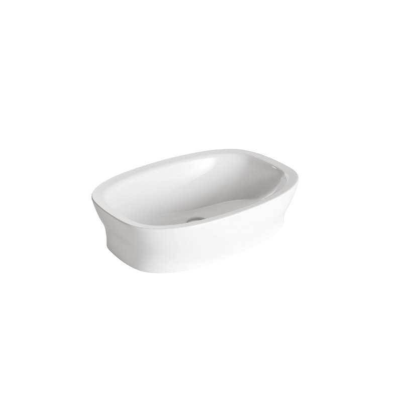 Lavabo da appoggio 65x45 Ceramica Globo Affetto AF067.BI