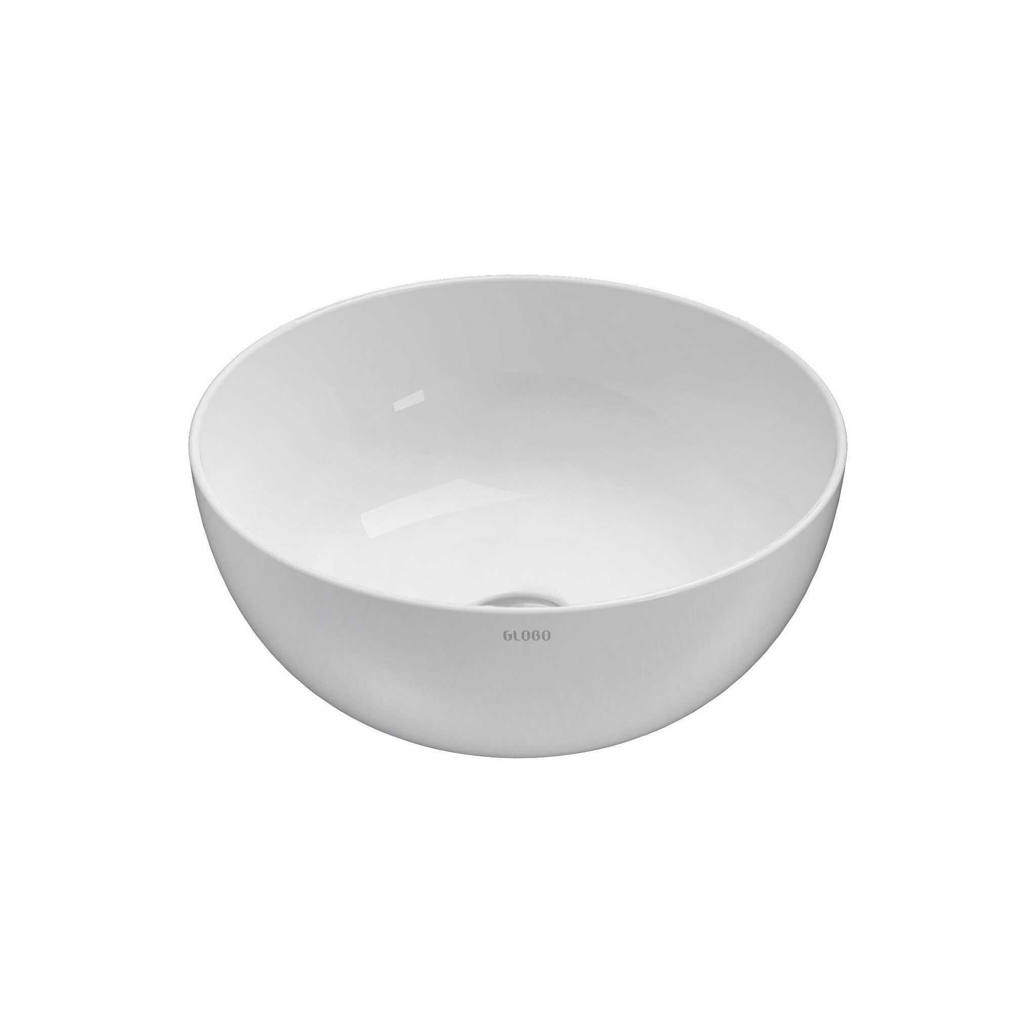 Lavabo da appoggio tondo T-Edge Ceramica Globo bordo sottille 6 mm