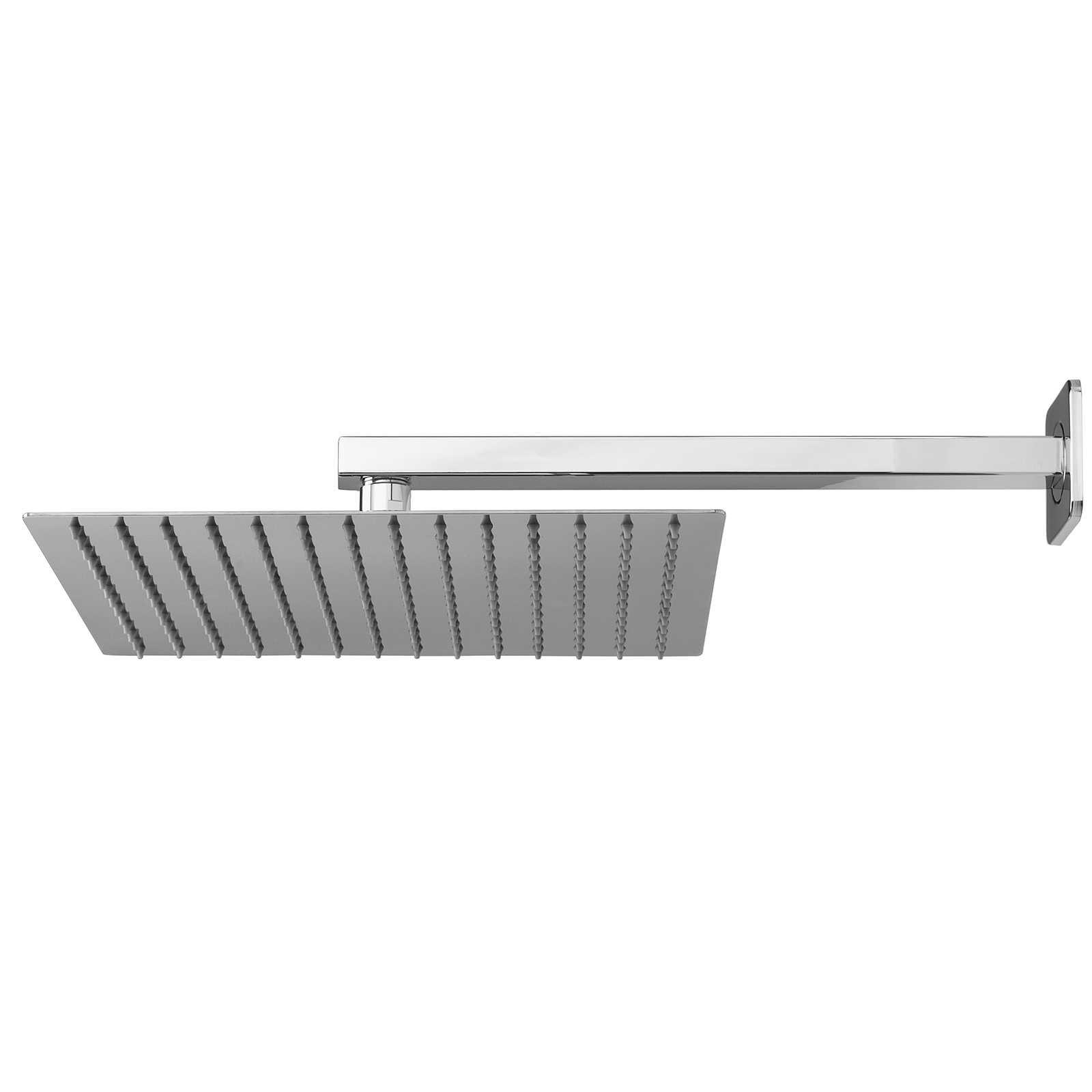 Soffione doccia quadrato ultraslim 30x30 con braccio doccia in acciaio inox lucidato di Ares
