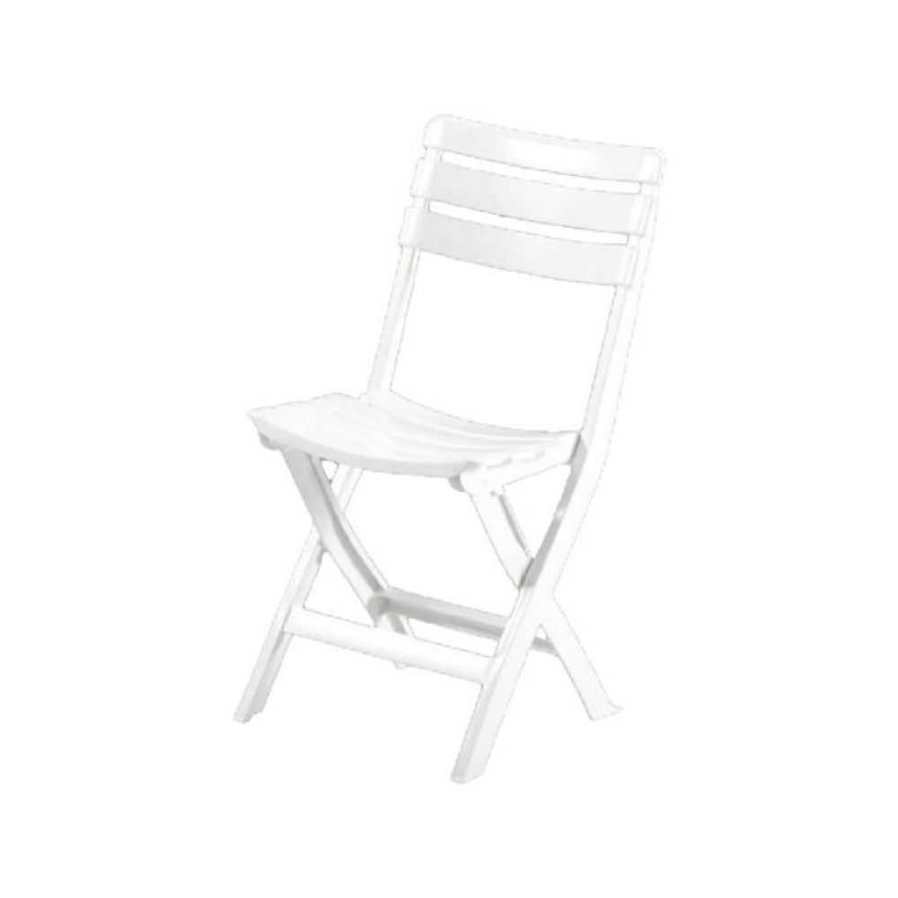 Sedia modello PINTA, richiudibile, in polipropilene, cm 41x40xH80, colore bianco