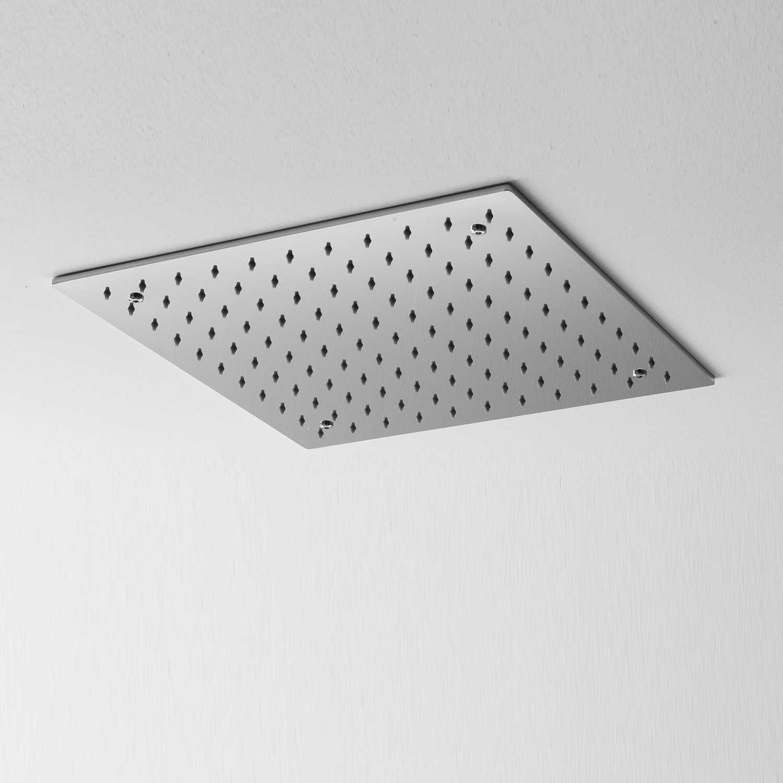 Soffione doccia a soffitto Ares 40x40 cm in acciaio inox