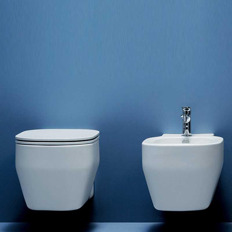 Sanitari Sospesi Ceramica Azzurra Glaze WC + BIDET + SEDILE