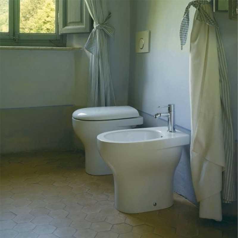 Sanitari a Terra Ceramica Globo Grace WC + BIDET + SEDILE SOFT CLOSE