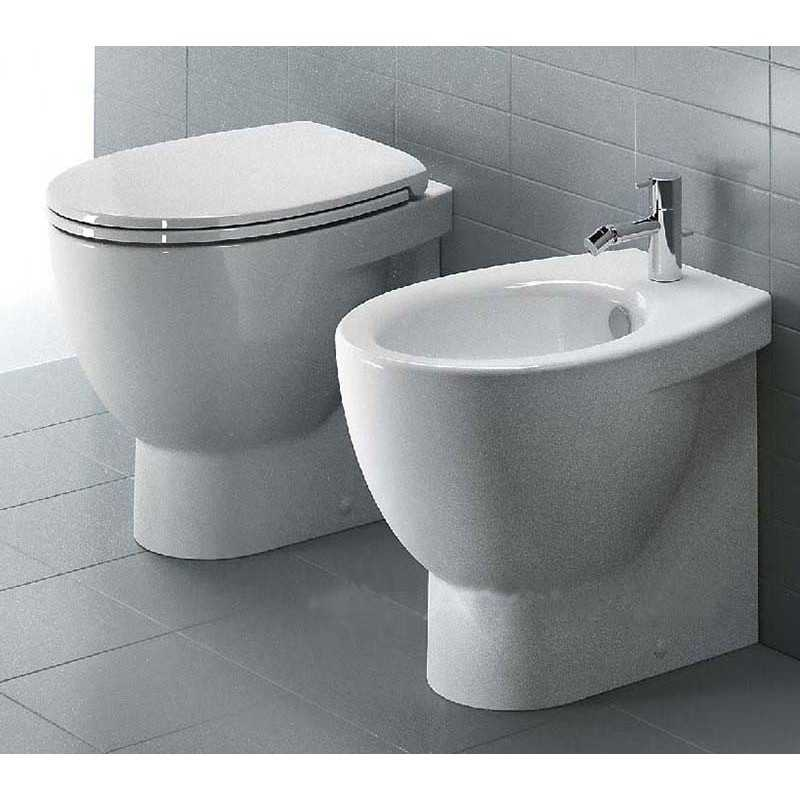 Sanitari Filoparete Ceramica Catalano New Light wc + bidet + sedile soft close