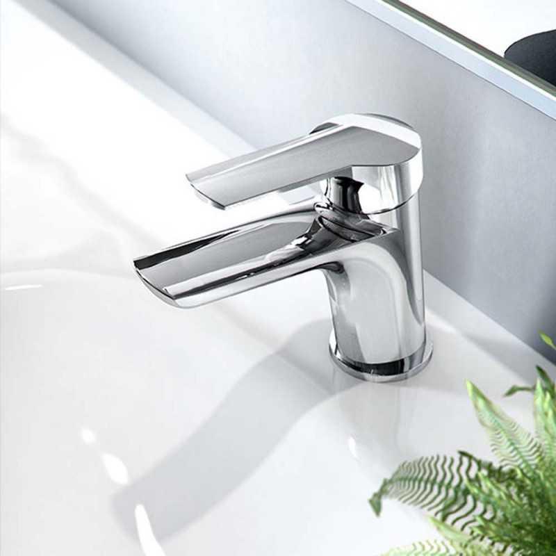 Miscelatore rubinetto lavabo FIMA Carlo Frattini SERIE 4 completo di piletta