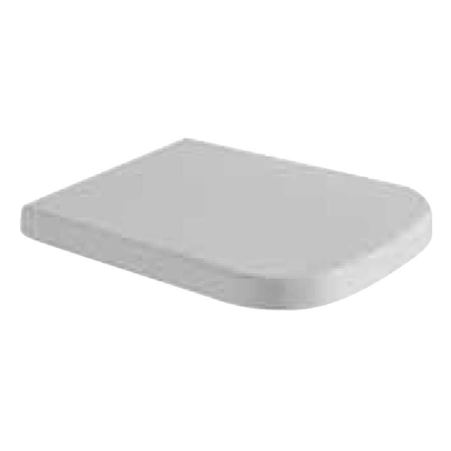 Coprivaso in duroplast  STONE 45 bianco chiusura tradizionale