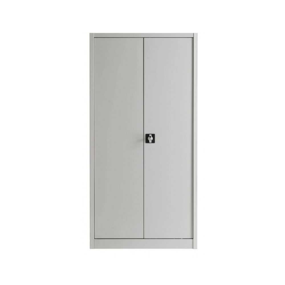 Armadio in metallo per ufficio con ante battenti. Dimensioni 100x45x200h  colore griglio