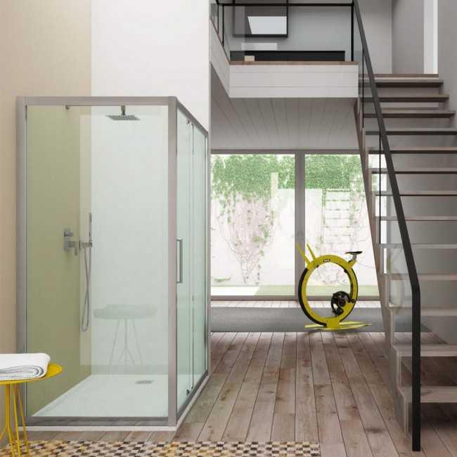 Parete fissa da 70 cm per Box doccia Hera Cristallo Trasparente