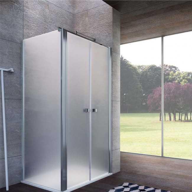 Parete fissa da 70 cm  per Porta doccia saloon Kronos Cristallo Opaco