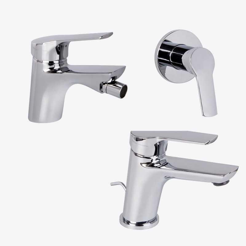 Fima Carlo Frattini Serie 4 lavabo c/scarico + bidet c/scarico + doccia
