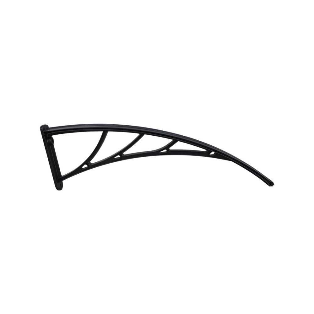 Staffa a muro per pensiline modulari cm 100 nera, policarbonato compatto