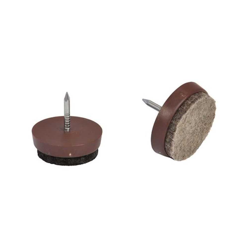 Scivoli per mobili con feltrino mm 26 - colore marrone