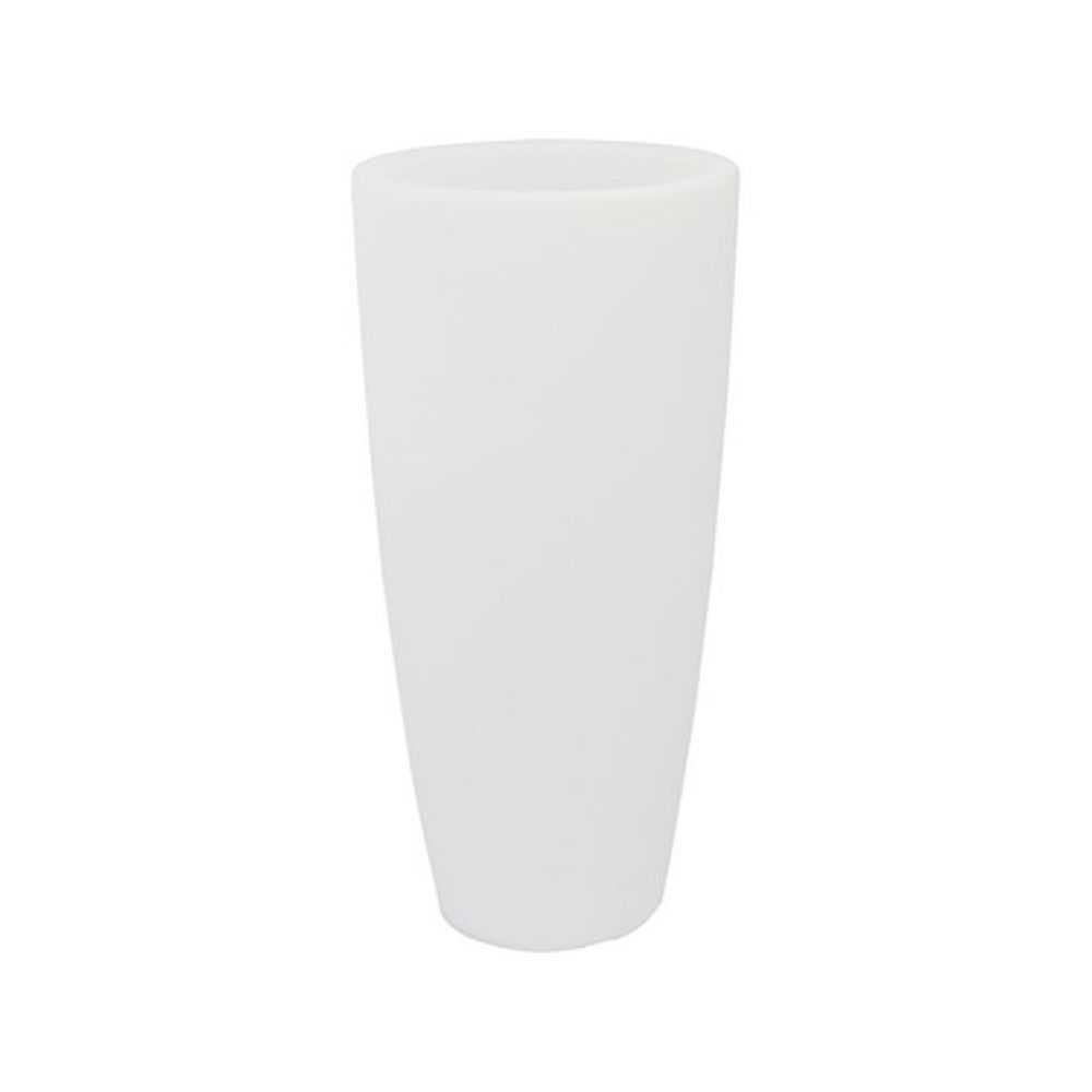 Vaso tondo STILO LAMP, in polietilene colorato, con illuminazione interna. Dimensioni Ø cm 40 x H cm 90, Litri 20. Colore ghia/luce bianca