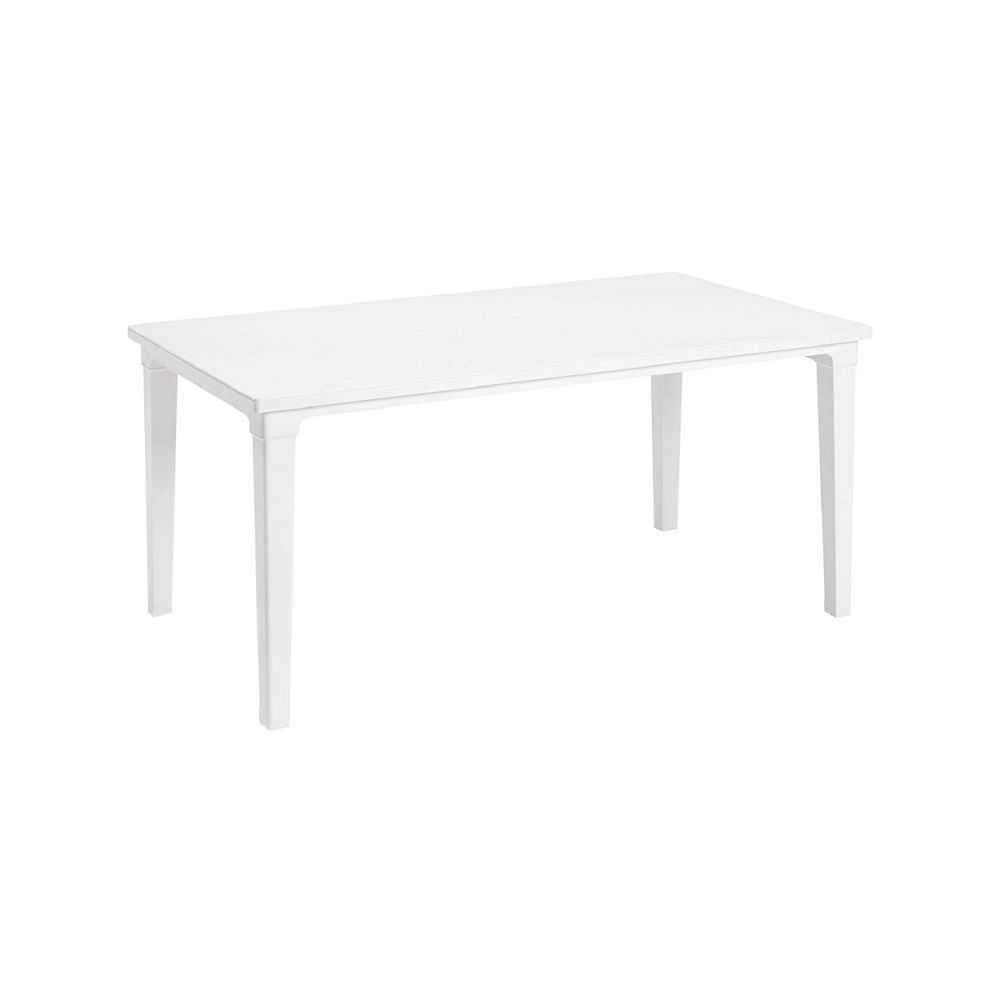 Tavolo da giardino FUTURA, in polipropilene colore bianco, misura cm 165x94xH74