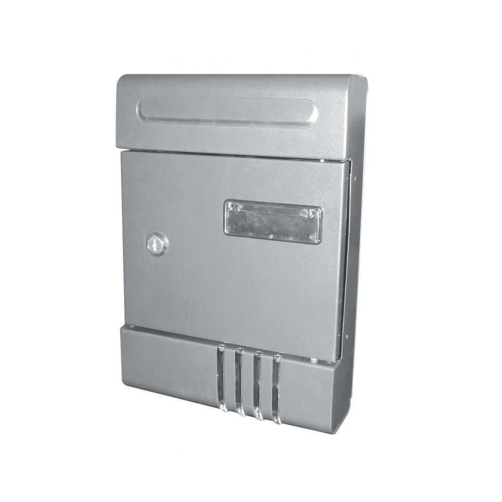 Cassetta postale CONDOMINIO in acciaio colore SILVER.