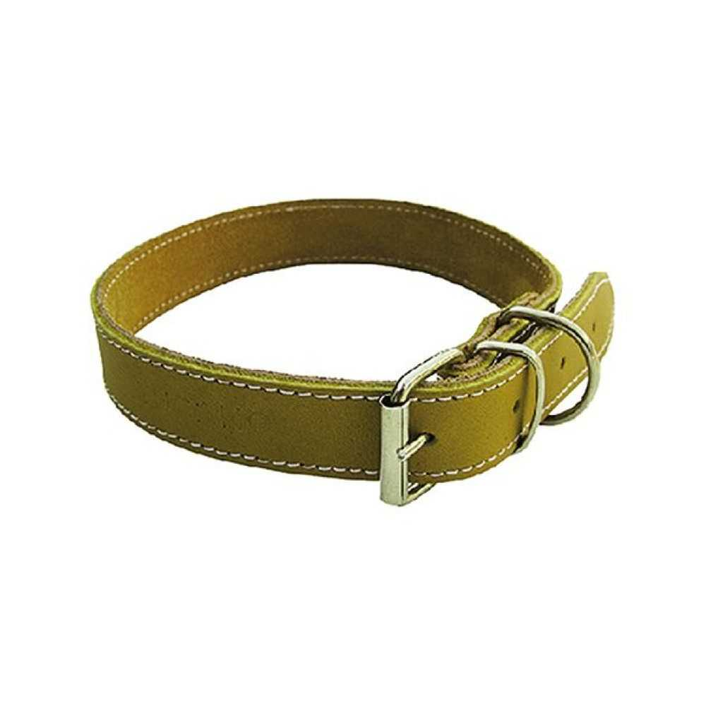 Collare per cane in bufalo, cucito. Larghezza mm 16, lunghezza cm 37