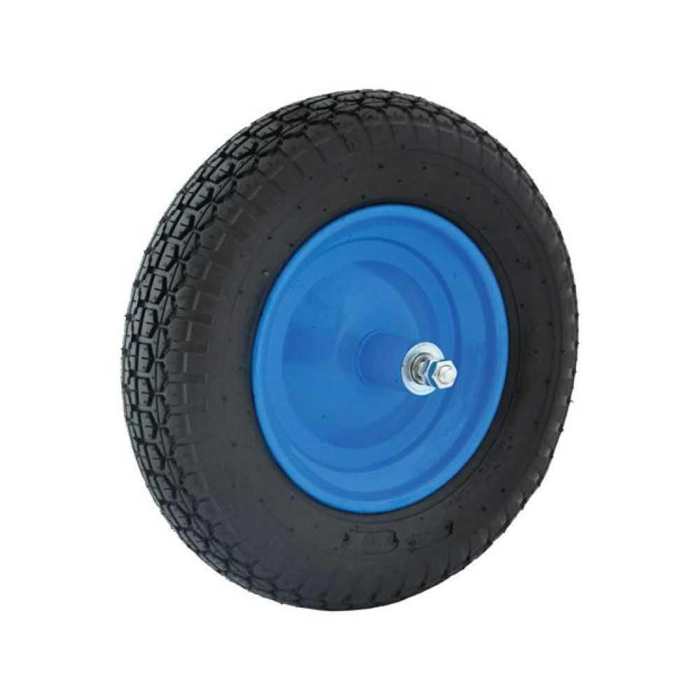 Ruota per carriola pneumatica con cuscinetti, perno corto int 125mm