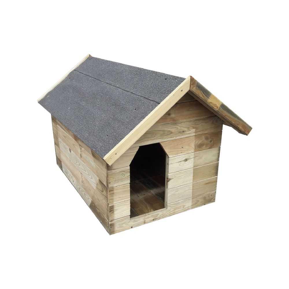 Cuccia per cani  modello 'open' in legno di pino con tetto apribile