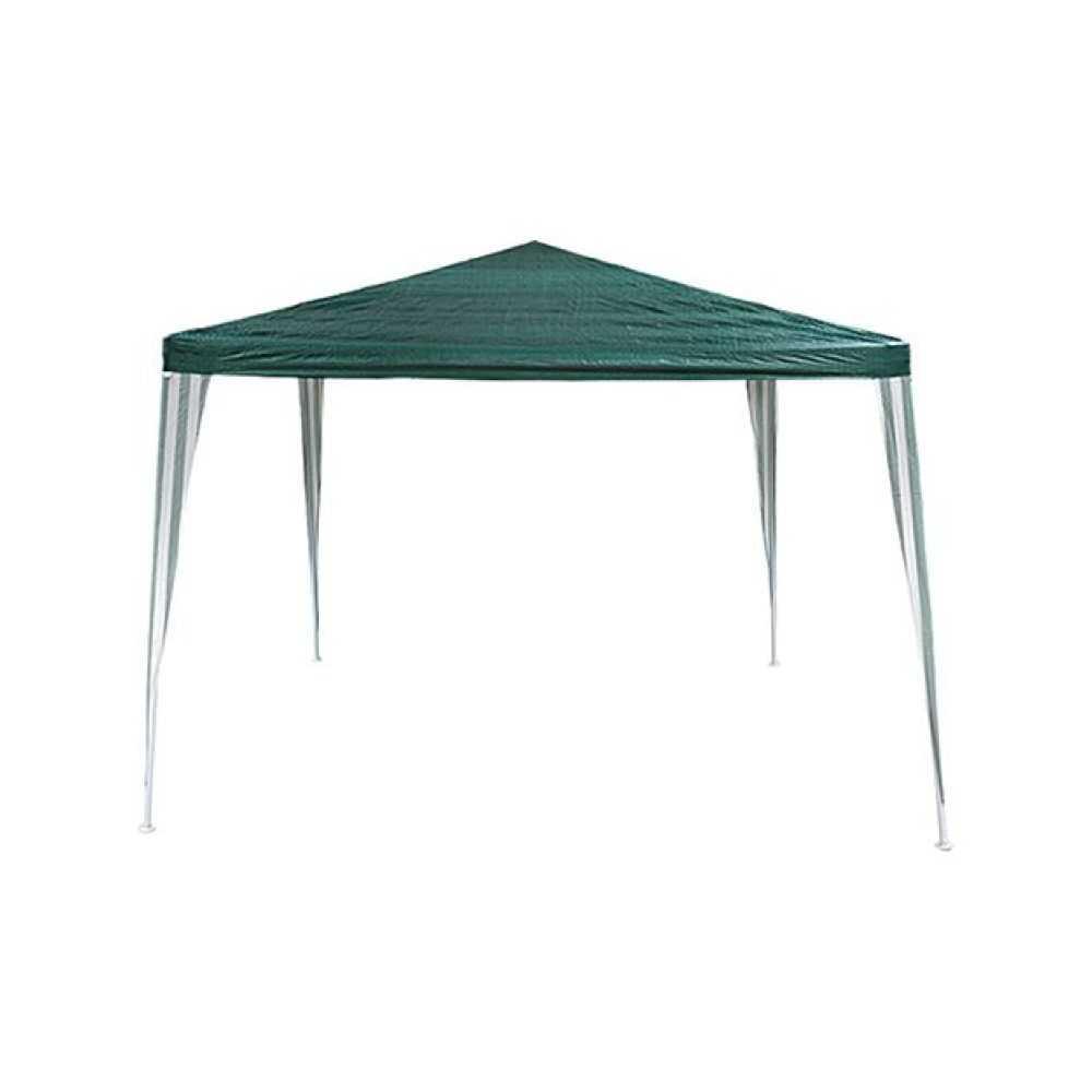 Gazebo OHIO, telaio in acciaio verniciato, colore verde. Dimensioni mt 3x3, altezza massima al centro mt 2,5