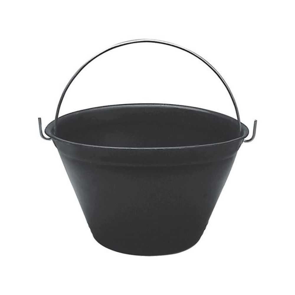 Secchio per muratore nero con diametro 340mm