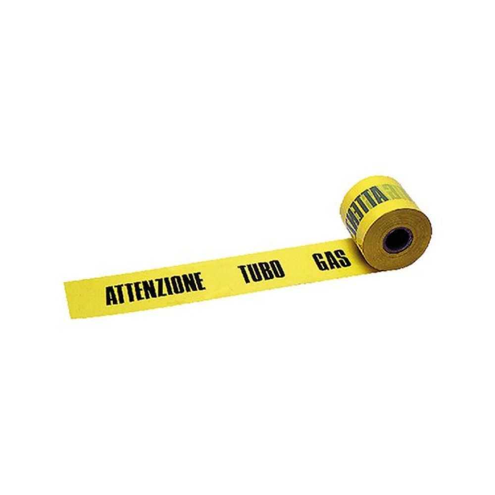 Nastro segnaletico ATTENZIONE TUBO GAS 10 cm. x 200 mt.