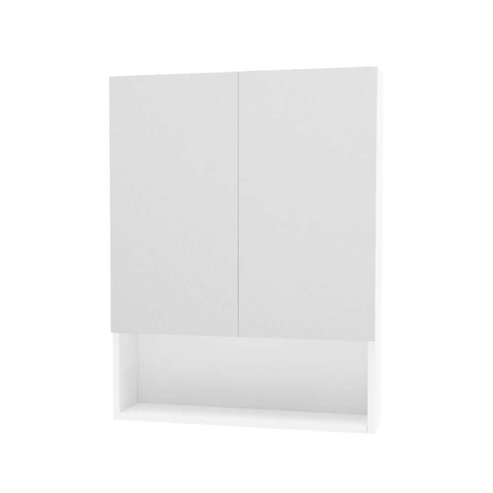 Specchiera da bagno doppia anta '933', cm 62x15,5xh81 - Bianca