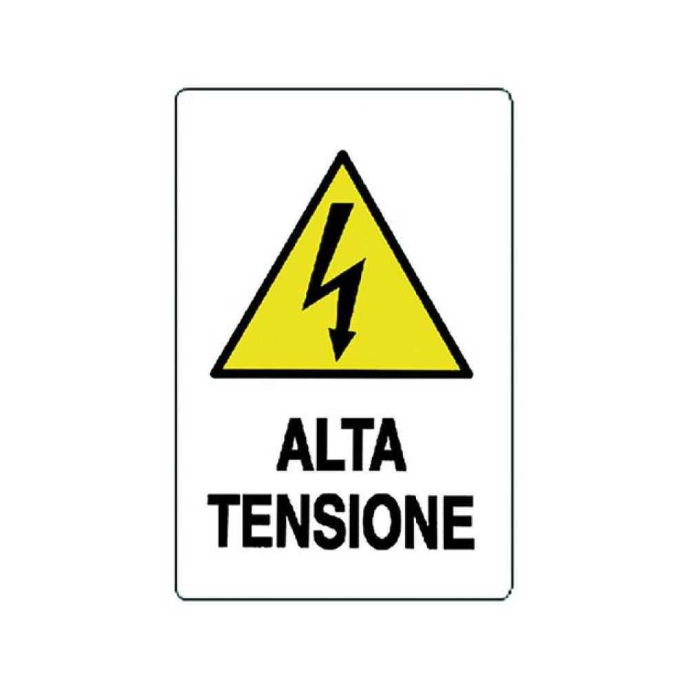 Cartello 'ALTA TENSIONE' 20x30 cm.