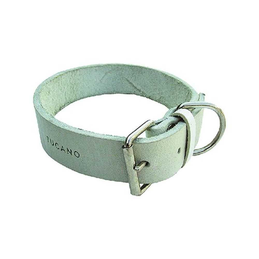 Collare per cane in bufalo, doppio. Larghezza mm 40, lunghezza cm 64