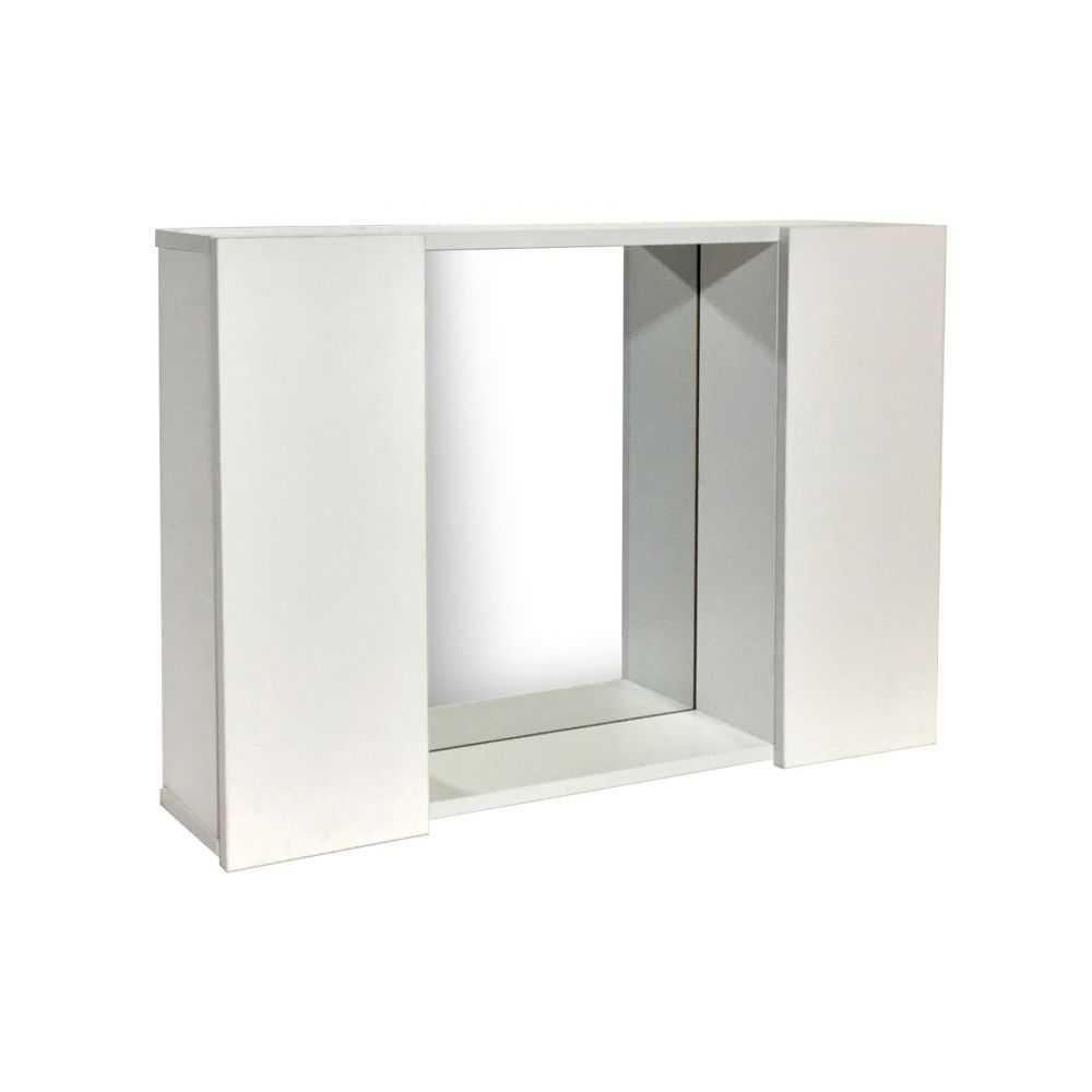 Specchio bagno GIN 2, con 2 ante. Bianco cm 60x13x41 (lxpxH)