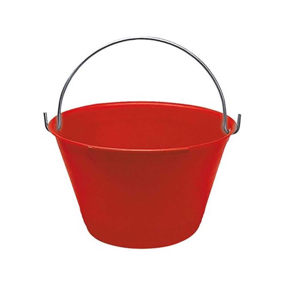 Secchio per muratore rosso con diametro 330mm
