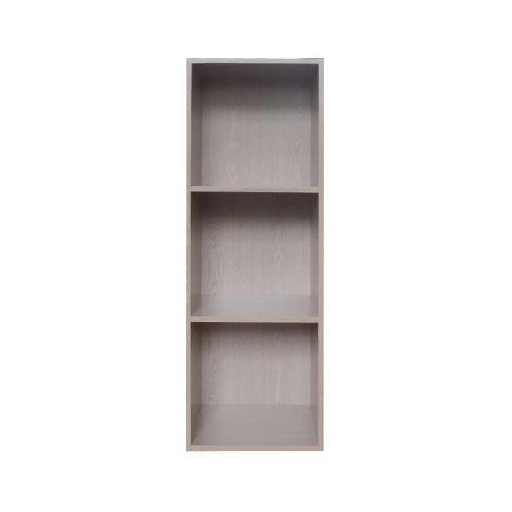 Libreria modello CUBO 3, tre vani, melaminico colore frassino, cm 31x30xH91